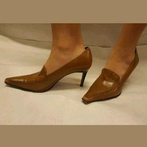 Vintage Brown Coach Pumps Heels Size 7.5